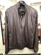 Remy Men Leather Jacket Brown Butter-soft Italian Leather Size 42 List For 1195