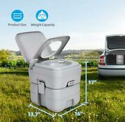 5.3 Gallon Waste Tank Portable Toilet Leak-proof Double-outlet Commode Outdoor