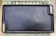 Vintage Cast Iron Reversible Griddle 18andrdquo Philippe Richard 18andrdquox 10andrdquo Two Sided