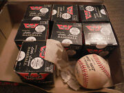 Vintage Box Of 7 New And 1 Used Ll 100 Worth Official League Baseballs
