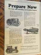 Vintage Minneapolis Threshing And Tractors From 1926 Great Add Pictures And Spec