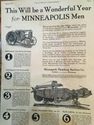 Vintage Minneapolis Threshing Machine From 1926 Pictures And Specifications Nice