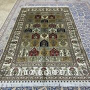 Yilong 5and039x8and039 Four Seasons Handmade Silk Carpet Easy To Clean Indoor Rug 361b