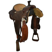 Used 15 Cowperson Tack Team Roping Saddle Code U15cpersontr12bk