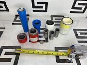 Lot 7 Plastic Lead Tube Shield Unit Dose Pb Cylinder Containers Pig Pro-tec