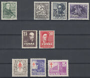 Spain - Year 1947 Complete - Stamps New Stamp Hinges - De Luxe - Mnh