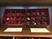 Danbury Mint Gold Christmas Ornament Collection - 13 Years - 156 Total Ornaments