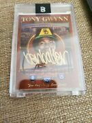 Very Rare 1/5 Autographed Ben Baller Tony Gwynn Topps Project 20