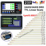 2/3axis Lcd Dro Digital Readout 1um Linear Glass Scale 100-1000mm For Cnc Lathe