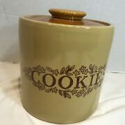 Cookie Jar Vintage Western Stoneware Monmouth Pottery Company 8 1/2 Inches Tall