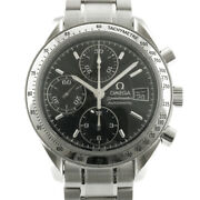 Omega Watches Silver Black Stainless Steel Speedmaster From Japan Used