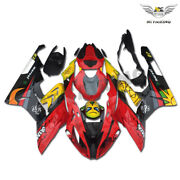 Injection Plastic Abs Fairing Fit For Bwm 2015-2016 S1000rr Red Shark Teeth S03