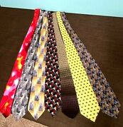 Collection Of 6 Vintage Jerry Garcia Silk Ties - From 5 Different Collections