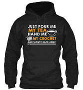 Pour My Tea Hand Me My Crochet Classic Pullover Hoodie - Poly/cotton Blend