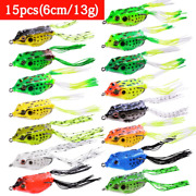 Soft Fishing Lure Topwater Frog Fishbait Silicone Artificial Wobblers Fish Lures