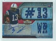 Ty Hilton 2012 Topps Triple Threads Triple Jersey Auto Red Rc D 11/99