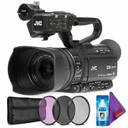 Jvc Gy-hm250sp Uhd 4k Streaming Camcorder +hd Sports Overlays + Creative Filter
