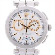 Versace Aion Ve1d00919 Ss Qz Silver Dial Too Much