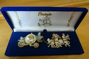 Disneyandnbspcinderella Hinged Coach Carriage And Horses Boxed 2 Pin Set
