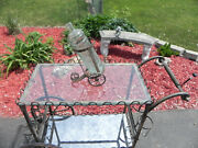 Vintage Bar Cart Antique Tea Serving Cart Mfgr Unknown. Circa 1940and039s To 60and039s