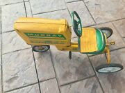 Rare Color Vintage Yellow And Green Murray Pedal Tractor Ride On Toy Chain Drive