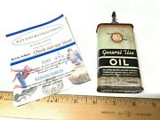 4 Oz Rm Hollingshead Whiz General Use Handy Oiler Household Oil Can Tin Sign