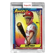 Topps Mlb Project 70 Card 79 Mike Trout By Alex Pardee La Angels New