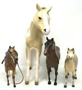 Lot Of 3 Vintage Breyer Horse 1 Our Generation Toy Miniature Animal Brown White