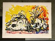 Tom Everhart Blow Dry Limited Edition Hand Signed Hand Pulled Lithograph 46/500