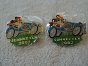 Disney Auctions Mickey Mouse Race Car Gold And Silver Prototype Le 4 - 2 Pins