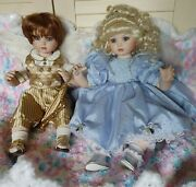 Lot/2-marie Osmond Angel Baby 2000 And Angel Baby Boy 2002 Porcelain Dolls