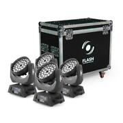 Flash 4x Led Moving Head 36x10w Zoom 3 Sections Inclus Boandicirctier