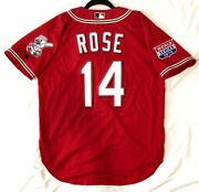 Authentic Russell Athletic Pete Rose Size 52 2xl Cincinnati Reds Jersey Rare