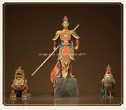 A Set Of Bronze Colored Drawing Crafts Monkey King Dragon Unicorn Rooster Statue