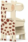 Kitchen Step Stool For Kids Adjustable Height Kids Standing Tower Wooden Toddle