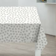 Grey Hearts Pvc Tablecloth Wipe Clean Table Cloth 178cm X 132cm Almost 6ft