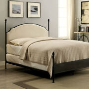 Transitional Full Size Bed With Ball Finials Black