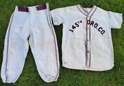 Army Military 1950andrsquos Era Vintage Baseball Uniform Flannel Wool Jersey Pants