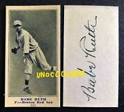 1916 M101 M-101 Babe Ruth 151 Rookie Rc Auto Autographed Reprint Baseball Card