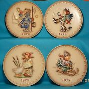 Hummel Plates 1972 1973 1974 1975 West Germany Retired Mixed Lot 4