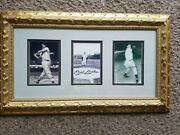 Mickey Mantle, Joe Dimaggio,and Ted Williams Autographed/framed Photos W/ Coa