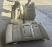 2008-2013 Cadillac Cts Cream White Front And Back Row Seats