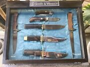 Vtg Smith And Wesson Blackie Collins Orginal 7 Pc. Knife Collection In Case