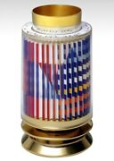 Yaacov Agam Kiddush Cup 24k Gold Plated Sterling Silver W.agamograph In Lucite