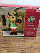 Inflatable Waving Reindeer Christmas Airblown 8ft Tall