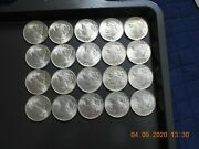1923 Peace Bu Silver Dollar Coins 20 Coins-uncirculated Brilliant Shiny White