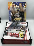 Wwe Raw Wrestling Ring With Spring Loaded Mat Plus Cm Punk Vs. Undertaker New