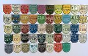 Lot Of 48 Del Monte Forest Pebble Beach Gate Badges Car License Plate