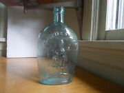 1860s For Pikeand039s Peak Prospector Eagle Quart Historical Whiskey Flask Drippy Lip