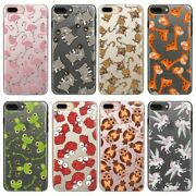 Hairyworm Animal Pattern On Clear Hard Plastic Phone Case For Huawei Oneplus